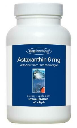 Astaxanthin ,Allergy Research Group,6 mg 60 Softgels