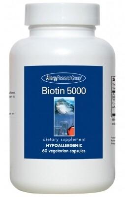 Biotin 5000, 60 Vegetarian Caps Allergy Research Group
