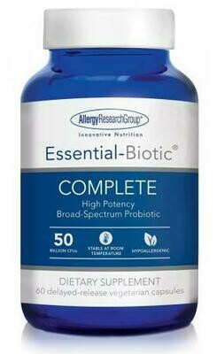 Essential-Biotic COMPLETE 60 delayed-release vegetarian capsules Allergy Research Group