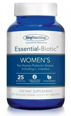 Essential-Biotic WOMEN'S 60 delayed-release vegetarian capsules  Allergy Research Group
