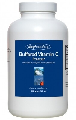 Buffered Vitamin C Powder ,Allergy Research Group,240 Grams (8.5 oz)