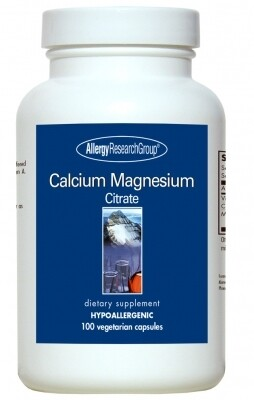 Calcium Magnesium Citrate 100 Vegetarian Capsules Allergy Research Group