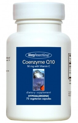 Coenzyme Q10 Allergy Research Group 50 Mg 75 Vegetarian Capsules