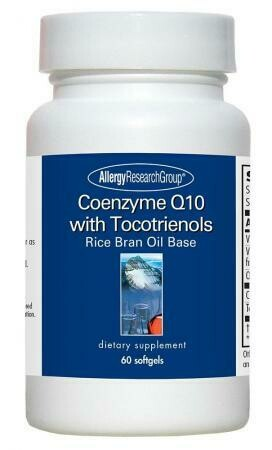 Coenzyme Q10 with Tocotrienols  60 soft capsules Allergy Research Group