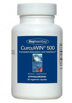 CurcuWIN® 500 Allergy Research Group 60 Vegetarian Capsules