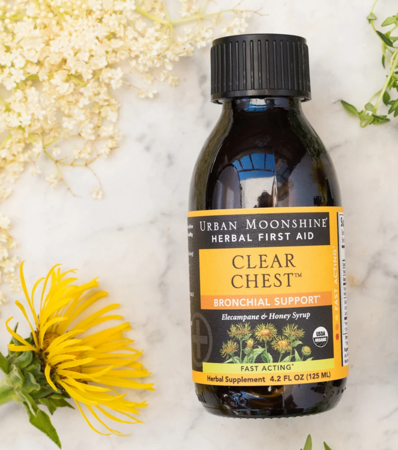Clear Chest Herbal Syrup,Urban Moonshine 125 ml