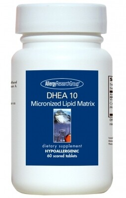 DHEA 10 mg 60 Scored Tablets Allergy Research Group