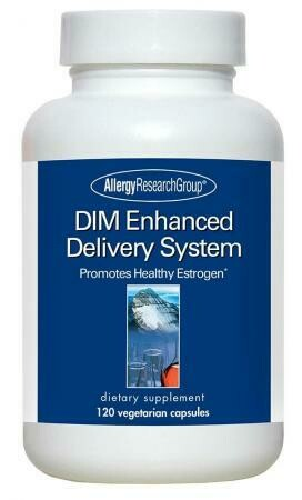 DIM Enhanced Delivery System Allergy Research Group 120 Vegetarian Capsules