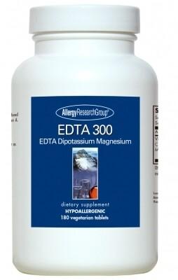 EDTA 300 EDTA Dipotassium Magnesium 180 Vegetarian Tablets Allergy Research Group