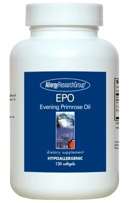 EPO Evening Primrose Oil 500 mg 120 gels  Allergy Research Group
