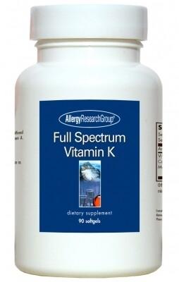 Full Spectrum Vitamin K, Allergy Research Group 90 softgels