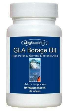 GLA Borage Oil 30 Capsules Allergy Research Group