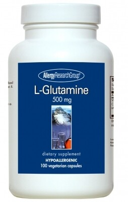 L-Glutamine,Allergy research Group, 500 mg, 100 Vegetarian Capsules