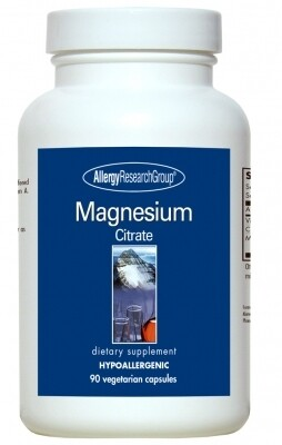 Magnesium Citrate Allergy Research Group ,170 ml 90 vegetarian capsules