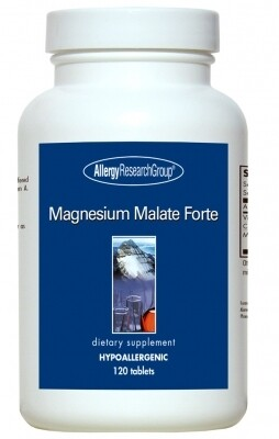 Magnesium Malate Forte ,Allergy Research Group ,120 Vegetarian Tablets