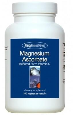 Magnesium Ascorbate 100 Vegetarian Caps Allergy Research Group