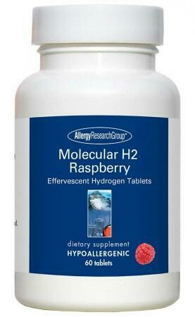 Molecular H2 Raspberry ,Allergy Research Group,60 Vegetarian Tablets