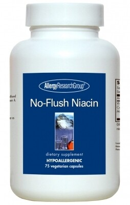 No-Flush Niacin 75 Vegetarian Caps Allergy Research Group