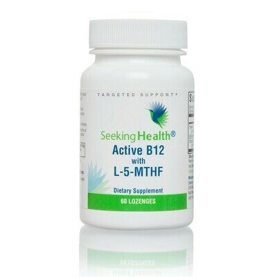 ACTIVE B12 WITH L-5-MTHF - 60 LOZENGES  Seeking Health