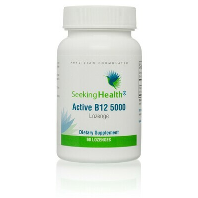 ACTIVE B12 5000 - 60 LOZENGES Seeking Health