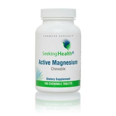 ACTIVE MAGNESIUM CHEWABLE - 100 TABLETS  Seeking Health