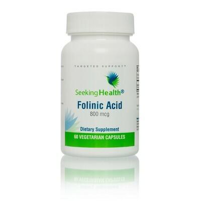 FOLINIC ACID - 60 CAPSULES Seeking Health