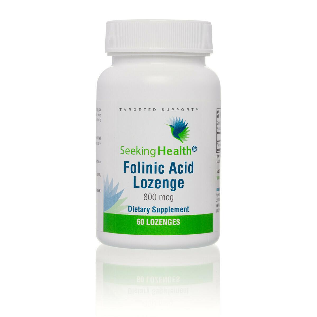 FOLINIC ACID LOZENGE - 60 LOZENGES Seeking Health