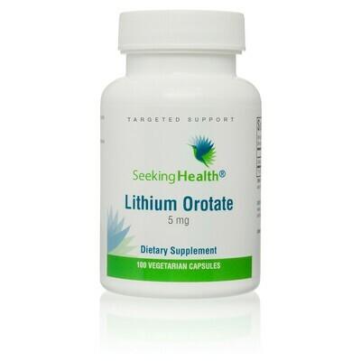 LITHIUM OROTATE - 100 CAPSULES Seeking Health
