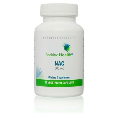 NAC (N-ACETYL-L-CYSTEINE) - 90 CAPSULES - NON-VEGAN Seeking Health
