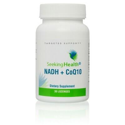 NADH + COQ10 - 30 LOZENGES Seeking Health