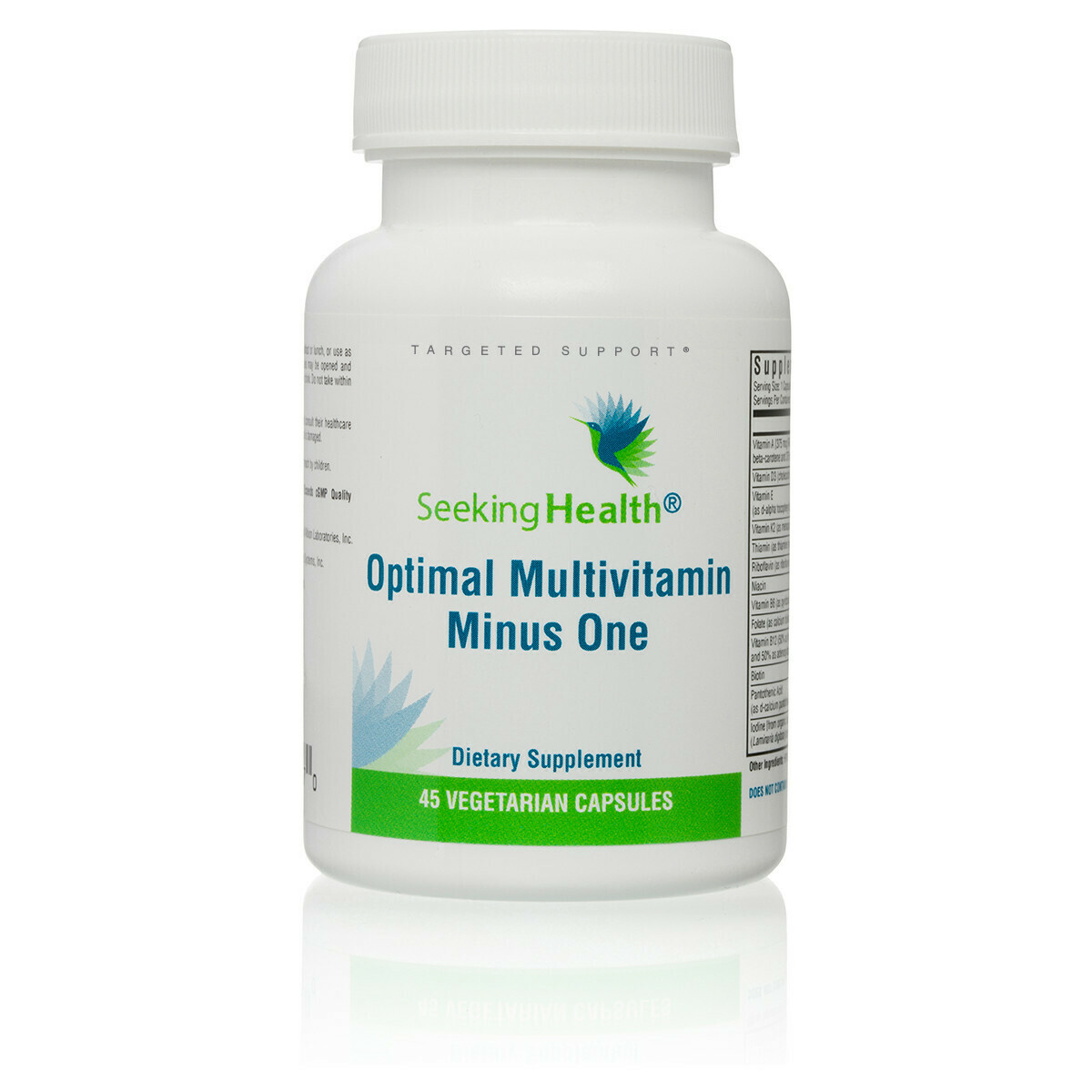 OPTIMAL MULTIVITAMIN MINUS ONE - 45 VEGETARIAN CAPSULES Seeking Health