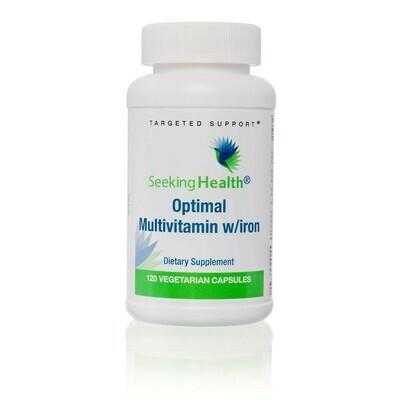 OPTIMAL MULTIVITAMIN WITH IRON  120 CAPSULES Seeking Health
