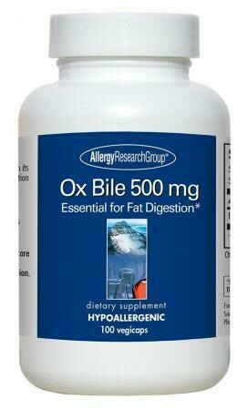 Ox Bile 500 mg 100 Vegicaps,Allergy Research Group