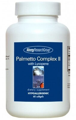 Palmetto Complex II ,Allergy Research Group ,60 Softgels