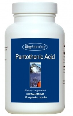 Pantothenic Acid 90 Vegetarian Capsules Allergy Research Group