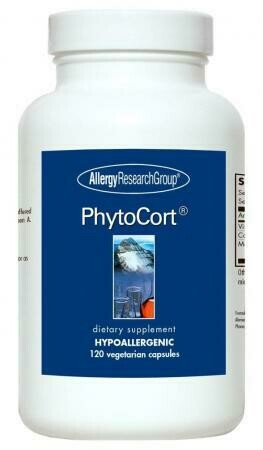 PhytoCort  120 Vegetarian Capsules Allergy Research Group