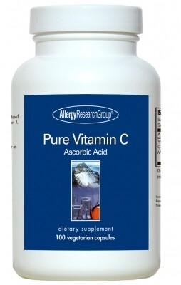 Pure Vitamin C 100 Vegetarian Capsules, Allergy Research Group