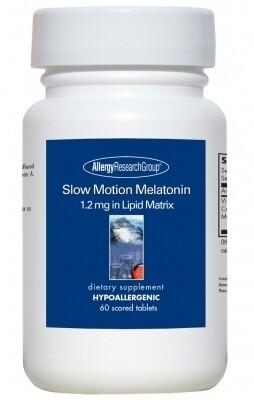 Slow Motion Melatonin,Allergy Research Group, 1.2 mg in Lipid Matrix60 Scored Tablets