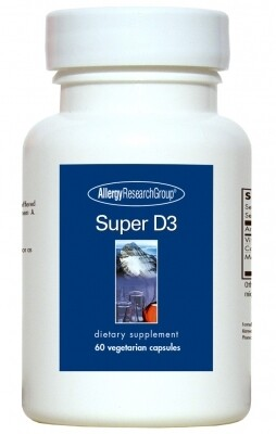 Super D3 60 Vegetarian Capsules Allergy Research Group