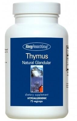 Thymus ,Allergy Research Group,75 Vegicaps