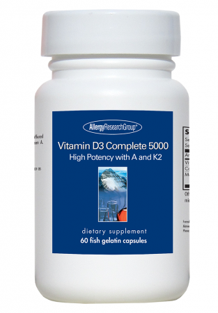 Vitamin D3 Complete 5000 ,Allergy Research Group,60 Fish Gelatin Capsules