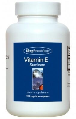 Vitamin E 100 Vegetarian Capsules Allergy Research Group