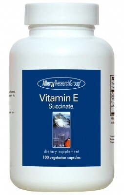 Vitamin E,Allergy Research Group, 100 Vegetarian Caps
