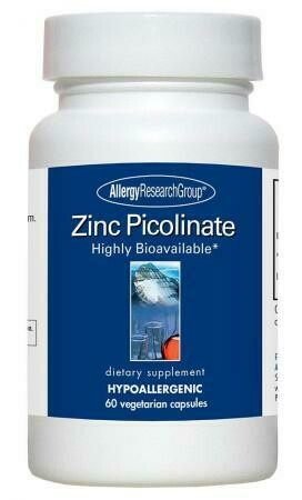 Zinc Picolinate ,Allergy Research Group,60 Vegetarian Caps