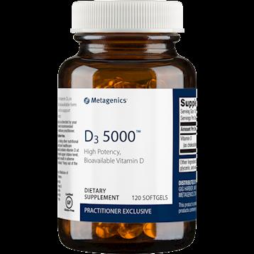 D3 5000 IU,Metagenics, 120 softgels