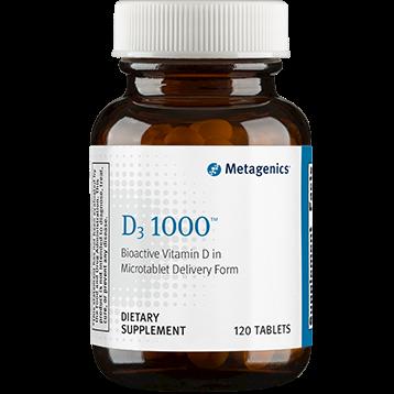 D-3 1000 IU,Metagenics, 120 tabs