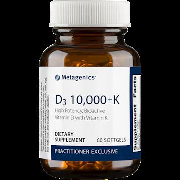D3 10,000 + K ,Metagenics,60 gels