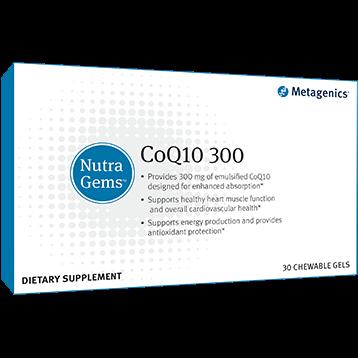 NutraGems™ CoQ10 300 ,30 Chewable Gels,Metagenics