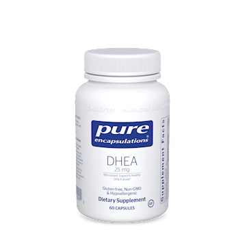 DHEA (micronized),Pure Encapsulations, 25 mg 60 vcaps