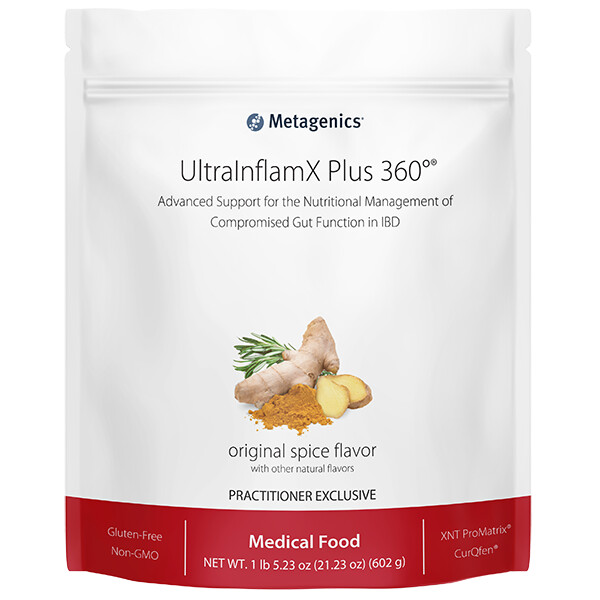 UltraInflamX Plus 360 Originalg Spice 14 servings 602 g Metagenics